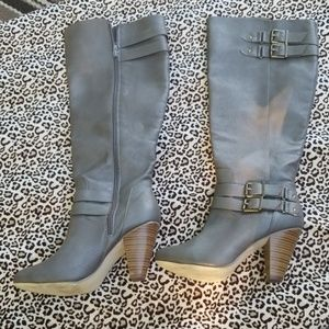 JUSTFAB KNEE HIGH BOOTS SIZE 8